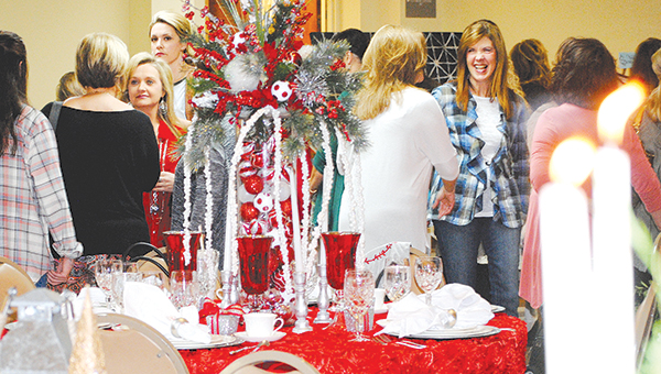 Photo submitted/ First Baptist Church held a fundraiser for  Casa de Fe Monday night. Casa de Fe founder and one-time Brookhaven resident was in attendance.