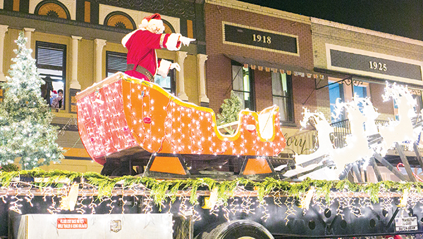 Photo by Kaitlin Mullins/ The Christmas Parade downtown Thursday night drew large crowds and large smiles to the faces of Brookhaven and surrounding areas