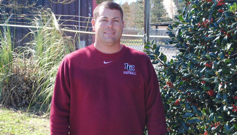 Daily Leader / MARTY ALBRIGHT / Lawrence County football coach Jaymie Palmer is recognized as the All-Area 2015 Coach of the Year.