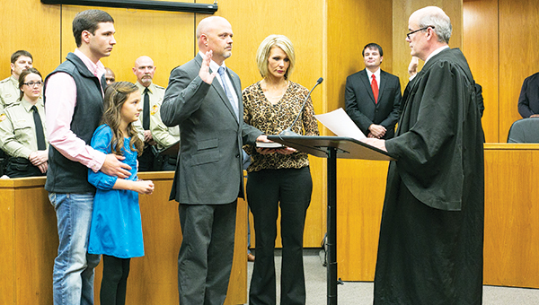 Photos by Kaitlin Mullins / The official swearing in ceremony took place Monday at the Brookhaven-Lincoln County Government Complex. Among those being sworn in was Sheriff Steve Rushing