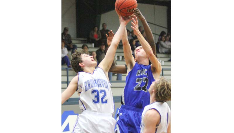 Daily Leader / Sherylyn Evans / Brookhaven Academy's Ethan Nations (32) fights for the rebound Tuesday night against ACCS.