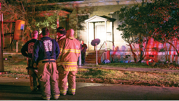 Photo by Kaitlin Mullins / BFD responded to a fire on Court Street Tuesday night. The fire was contained and damage minimal.