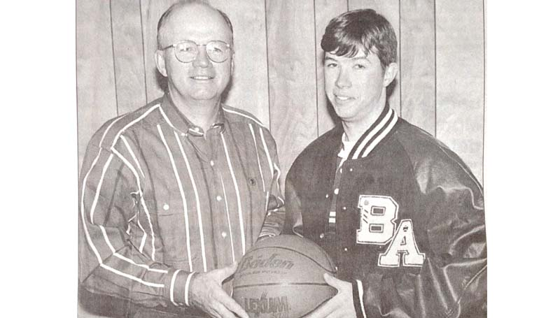 Daily Leader / File Photo / In 1995, Coach Dale Watts (left) coached his son, Josh Watts, at Brookhaven Academy.