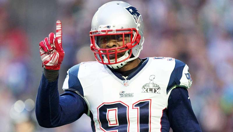 Daily Leader / Photo submitted / Franklin County native Jamie Collins (91) and his New England Patriots battle the Denver Broncos in the AFC Championship today at 2 p.m.