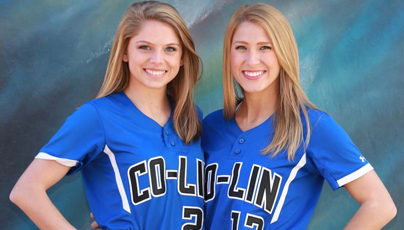 Co-Lin Media / Natalie Davis / Co-Lin's Lincoln County players Mattie Avants, of Bogue Chitto and Katie Grace Culpepper, of Brookhaven are ready to begin the 2016 season for the Lady Wolves.