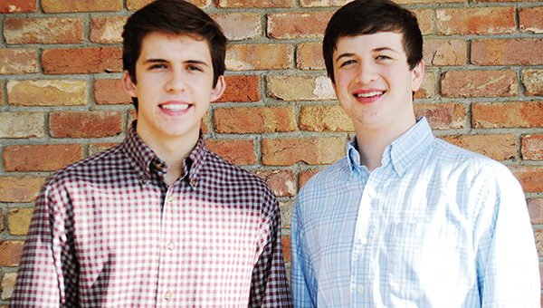 Photo submitted / Daniel Clark and Reid Roberson pose together for a photo Wednesday.