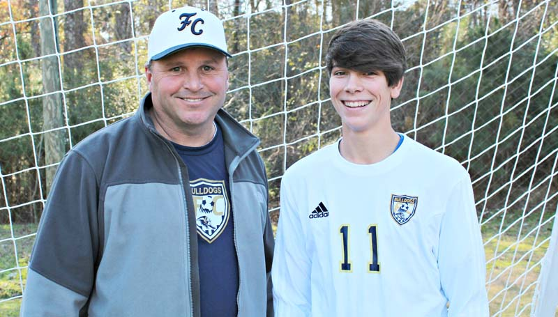 Daily Leader / Stephanie McCormick / Franklin County coach Jeff Long and Kyle McCormick have been selected to participate in the 2015-16 MAC All-Star Soccer game. It will take place Feb. 13 at Clinton High School. This will be Long's fourth appearance in the All-Star game. McCormick, a senior, was voted Region 6, District 7 Most Valuable Player and will play at Holmes Community College in the fall. He is the son of Ed and Stephanie McCormick.