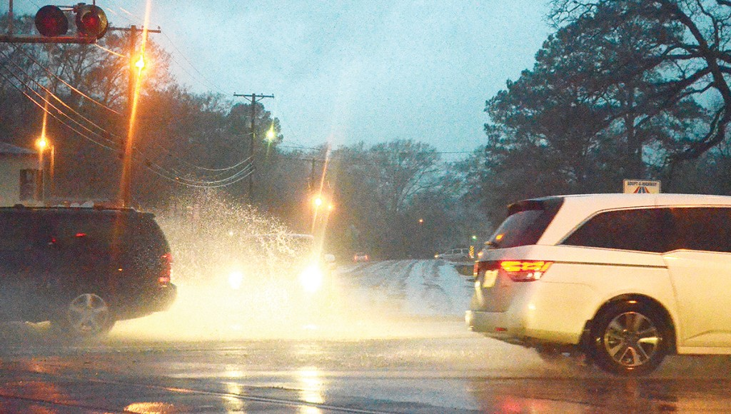 Heavy rains flooded some roads in the area Tuesday night. Lincoln County recorded as much as 5 inches of rainfall.