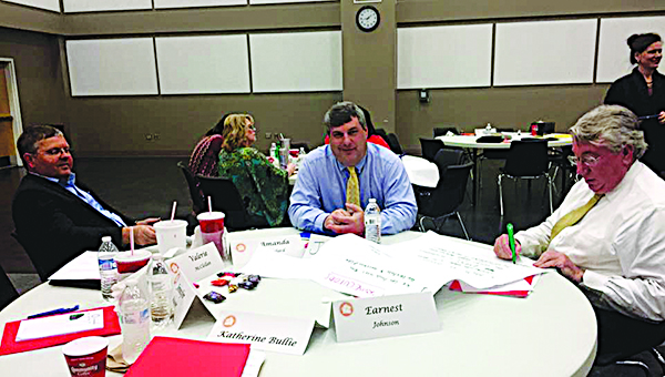 Photo submitted by Kim Walley / (From left) Mark Holmes, Youth Court prosecutor Walthall County, and Dee Bates, District Attorney of 14th district participate in CAC training session.