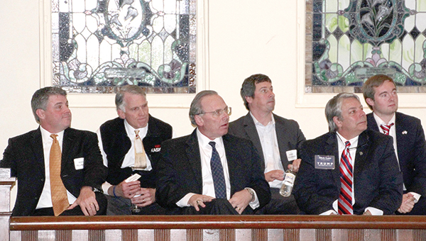 Photo by Alex Jacks / Candidates' representatives wait for their turn to speak Thursday night at Ole Towne Church.