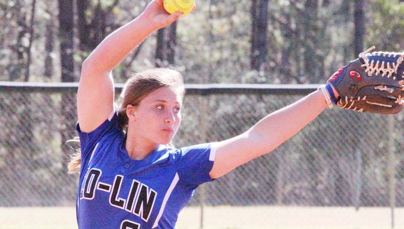 Co-Lin Media / Natalie Davis / Co-Lin's Kaitlyn Taylor collects her second win of the season Sunday afternoon against Itawamba.