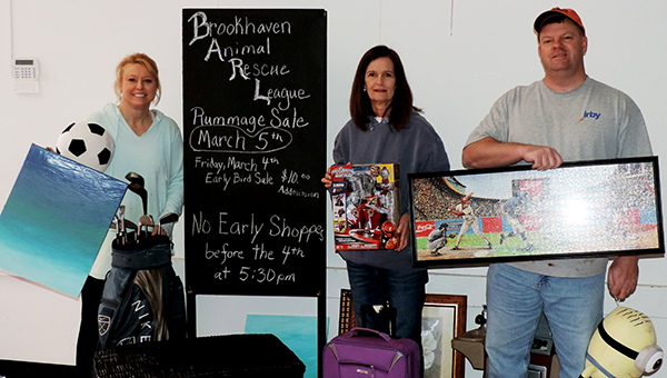 Photo submitted / BARL volunteers prepare for fifth annual rummage sale, which will be held March 4.