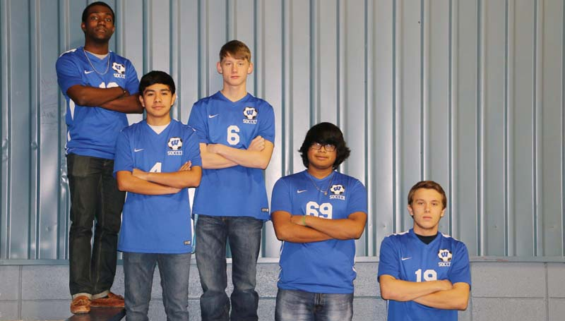Daily Leader / Photo submitted / The Wesson Cobras soccer team received Region 6 All-District honors (from left) Marcus Jones, Kelvin Casanova, Justin Morgan, Fidel Mellado, and Dylan Ingle.