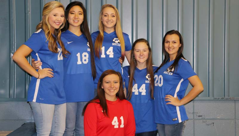 Daily Leader / Photo submitted / The Wesson Lady Cobras soccer team received Region 6 All-District honors (front row) Harmoni Ashley; (back) Brooke Jones, Kim San, Arie Douglas, Amber Brinson and Cheyenne Gladden.