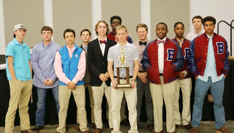 Daily Leader / Photo Submitted / Members of the Brookhaven boys district champs soccer team are (from left) Sawyer Jordan, Logan Emfinger, Tyler Mixon, Cory Patterson, Dalton Fortado, Malik Anton, Will Moak, Taylor Pendley, Tra Laird, Damani Noble, Cody Mixon, Darius Calvin, Not Pictured were Calvin Winston, Andrew Hart, Jeffery Johnson (manager) and Tommy Junkin (manager).