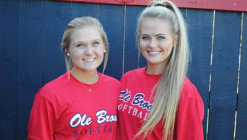 Daily Leader / Marty Albright / Brookhaven seniors (from left) Haley Speaks and Katherine Shell are ready to begin the 2016 fastpitch softball season. The Lady Panthers debut Saturday in the Lawrence County's Jamboree in Monticello. Brookhaven battles Seminary at 10:50 a.m. and Magee at 2:20 p.m.