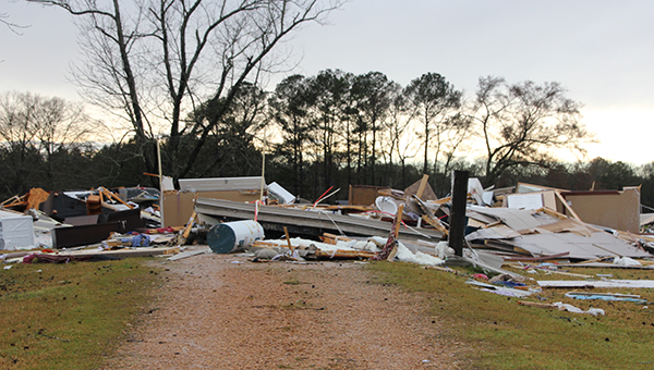 Photo by Alex Jacks / The Terrys lost their home last week as a damaging storm passed through the area.