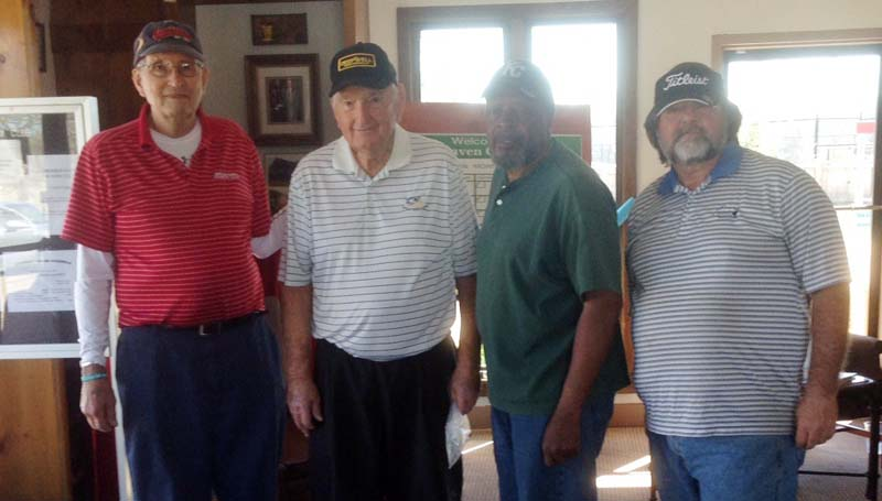 Daily Leader / Photo submitted / In Thursday's senior scramble at the Brookhaven Country Club, the team of (from left) Yogi Yarbrough, John Darrington, Jerry Handy, and Zeke Ellis won with a score of 12 under par 58.