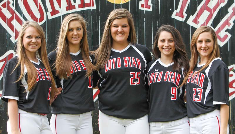 Daily Leader / Photo submitted / Loyd Star's softball seniors (from left) Megan Norton, Kelsey McCullough, Ali Gartman, Madison Jones and Julie Smith are looking to make a return trip to the state championship.