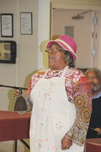 The Mt. Wade Women's Mission Ministry acted out the jobs and duties of black women throughout history.