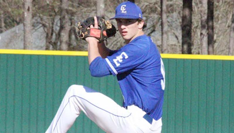 Co-Lin Media / Natalie Davis / Enterprise High School product Jackson Cole of Bogue Chitto delivers his pitch in Co-Lin baseball action against Baton Rouge Thursday.