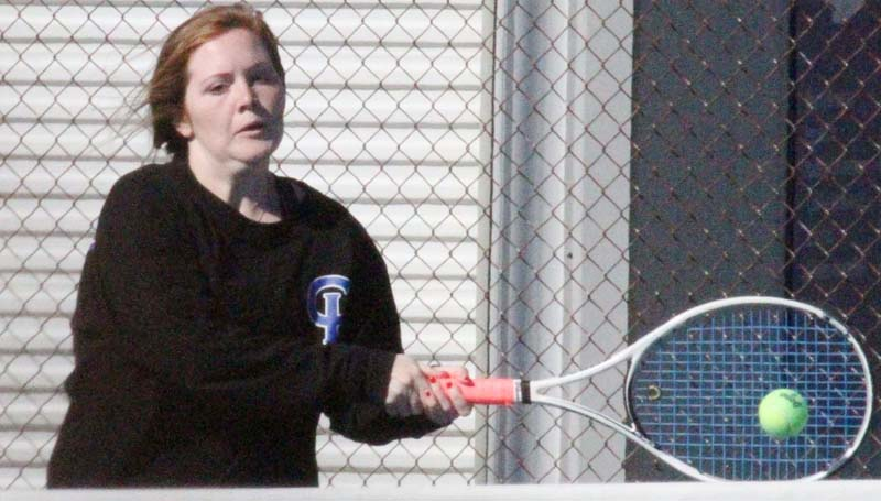 Co-Lin Media / Co-Lin's Susanna Ratcliff, of Brookhaven, returns a serve in JUCO women's tennis action against Northwest.