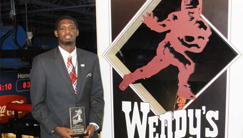 Daily Leader / Photo submitted / Brookhaven's Darrian Wilson receives Wendy's Heisman honors