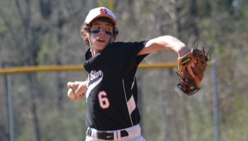 Daily Leader / Chris King / Loyd Star's Cade Hodges prepares to deliver his pitch in Saturday's action against East Marion.