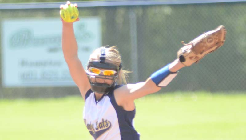 Daily Leader / Marty Albright / Bogue Chitto's Alana Nettles prepares to deliver her pitch to the Lady Cobras Tuesday.