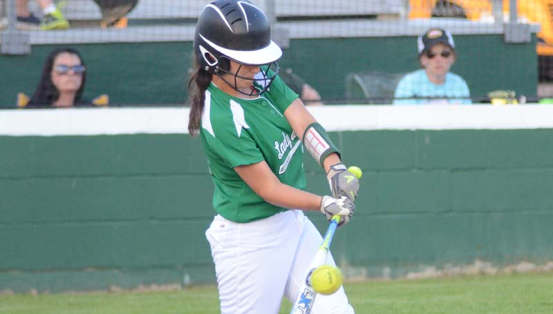 Daily Leader / Marty Albright / West Lincoln's Makennah Redd powered the Lady Bears at the plate Tuesday night against Salem.