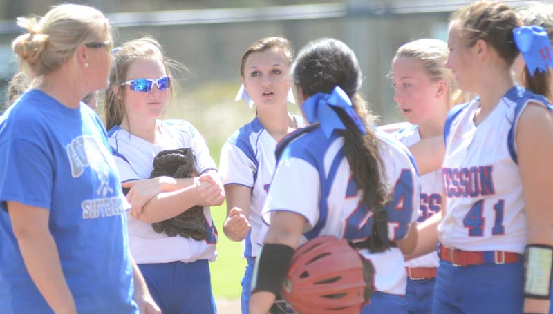 Daily Leader / Marty Albright / Wesson coach Michelle Nunnery and her Lady Cobras are ready for action as they host a softball invitational tournament.
