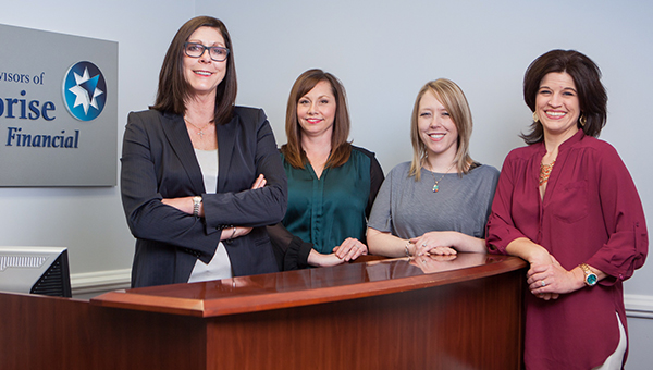 Photo submitted / Pictured are (from left) Susan L. Proaps, private wealth adviser; Mindy Smith, practice manager/client service coordinator; Jessica Marbury, marketing consultant/administrative assistant; and Jessica Langley, executive assistant/operations director