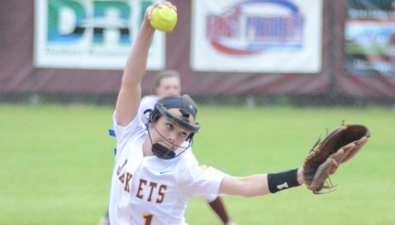 Daily Leader / Marty Albright / Enterprise's Carlee Nations collects the win in the pitching circle against West Lincoln.