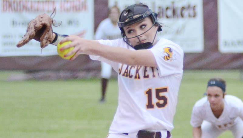 Daily Leader / Marty Albright / Enterprise's Haley Nations collects the win on the rubber Tuesday night against Loyd Star.