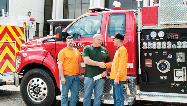 Photo by Aaron Paden / Zetus and New Sight volunteer fire departments received new trucks recently.