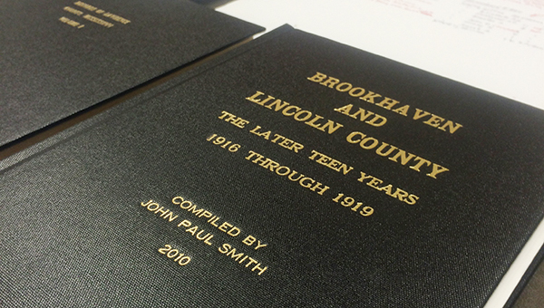 "Photos submitted / ""Brookhaven and Lincoln County: The Later Teen Years 1916 through 1919"" is just one of several books John Paul Smith has compiled on the Smith families of Lincoln County."