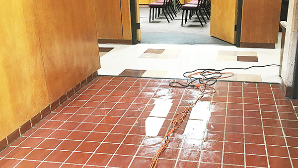 Photo by Kaitlin Mullins / After a pipe burst Tuesday, the Brookhaven-Lincoln County Government Complex suffered from wet floors and minor damage.