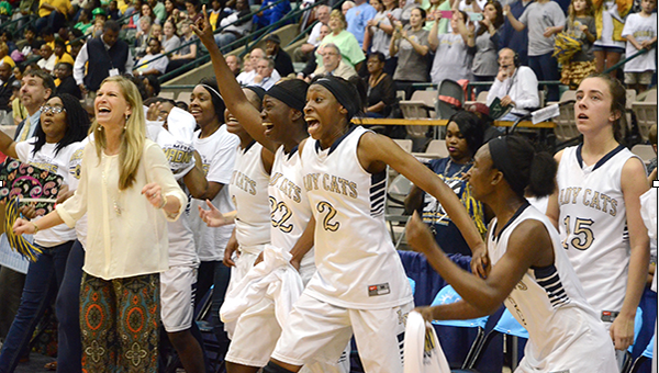 Bogue Chitto celebrates after winning the state title March 10.