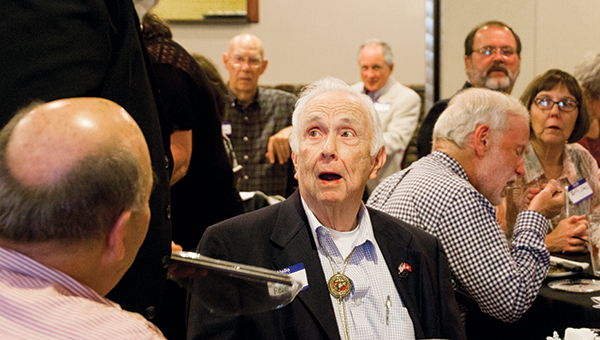 Photos by Alex Jacks / Fifty-four year Lions Club member Jerry F. Rein was honored at the Lions Club awards banquet.