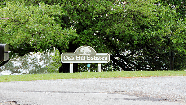 Photo by Alex Jacks / Oak HIll Estates is just one neighborhood from the 2007 annexation slated for sewage and water work this year.