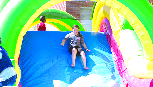 Photo by Alex Jacks / Brookhaven Elementary School hosted a fun day for its third- and fourth-grade students Monday. The students earned the fun day after meeting all of the school's AR reading goals for the third nine weeks.