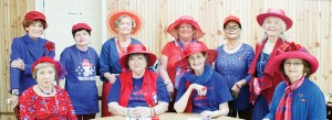 Betty Barham, Joyce Griffin, Margie Ratcliff, JoAnne Herrington, Linda Tucker, Betty Davis, Doris Stevens, Evelyn Wilson, Tessie Jones and Patricia Purser meet at Chism's Diner Thursday for their monthly meeting.