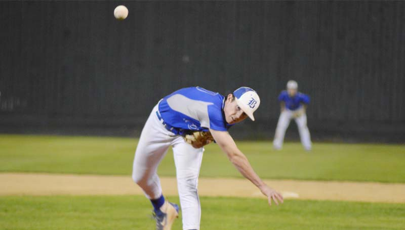 Daily Leader / Chris King / Brookhaven Academy's Madison Smith delivers a pitch to Simpson Academy Friday night.