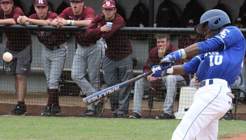 Co-Lin Media / Co-Lin's Champ Davison gets one of his four hits on the day against Hinds.