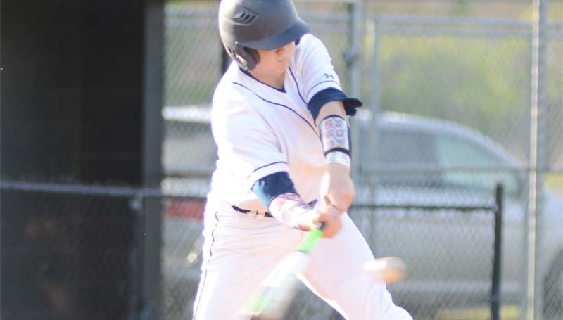 Daily Leader / File photo / Brookhaven's Jacob Porter provides a clutch hit in the Panthers victory over Natchez Saturday.