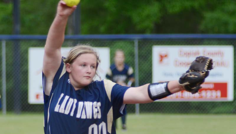 Daily Leader / File Photo / Franklin County's Emilee Wallace collects two wins against Port Gibson Thursday night.