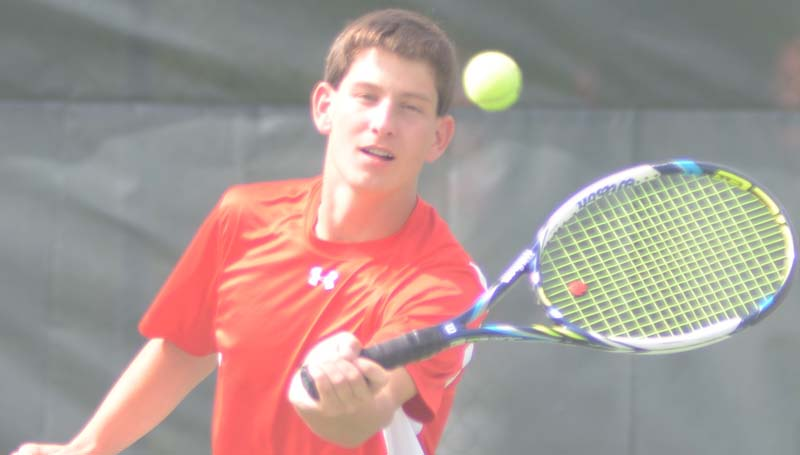 Daily Leader / Marty Albright / Brantley Brister and the Loyd Star Hornet netters defeated Piney Woods 4-3 in opening round of the team tennis playoffs Monday. The Hornets will face Sacred Heart in the second round at the Hattiesburg County Club Thursday if weather permits.