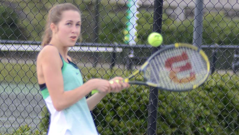 Daily Leader / Marty Albright / Carlie Smith and the West Lincoln Bear netters eliminated the Enterprise Jackets with a final score of 4-3 in opening round of the team tennis playoffs Monday. The Bears will host Resurrection in the second round at the Brookhaven County Club Monday starting at 3 p.m.