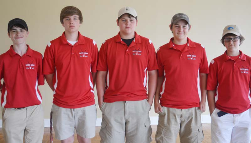 Daily Leader / Chris King / Loyd Star's boys golf team finished second in the district tournament Wednesday at the Brookhaven Country Club. Members of the team are (from left) Jacob Case, Peyton Bullock, Jacob Piazza, Ethan Piazza and Halsey Stewart.
