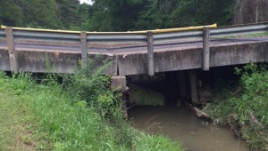 Photo submitted/ The Williams Street bridge collapsed Tuesday.